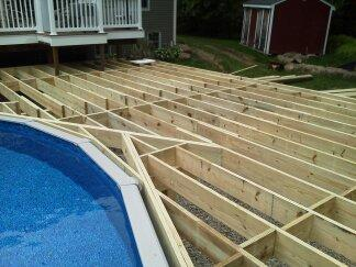 Above Ground Pool Deck - In Progress - West Bridgewater, MA