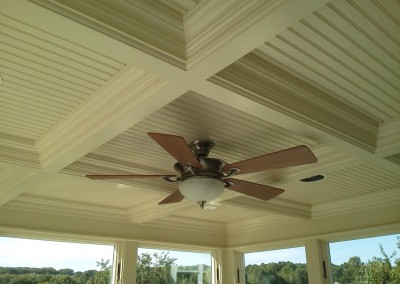 Coffered Ceiling - 3 Season Porch - Wrentham, MA