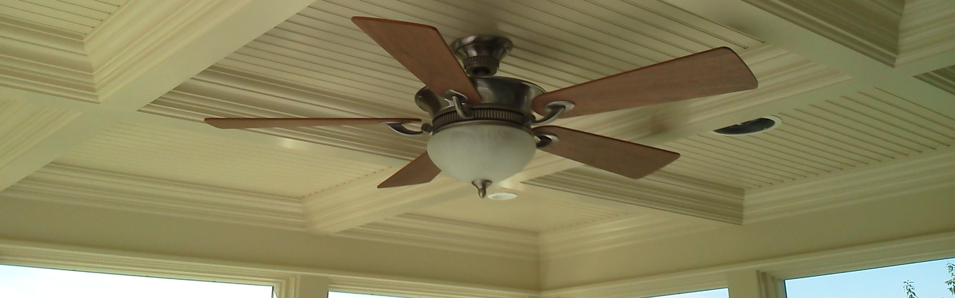 Coffered Ceiling with Fan